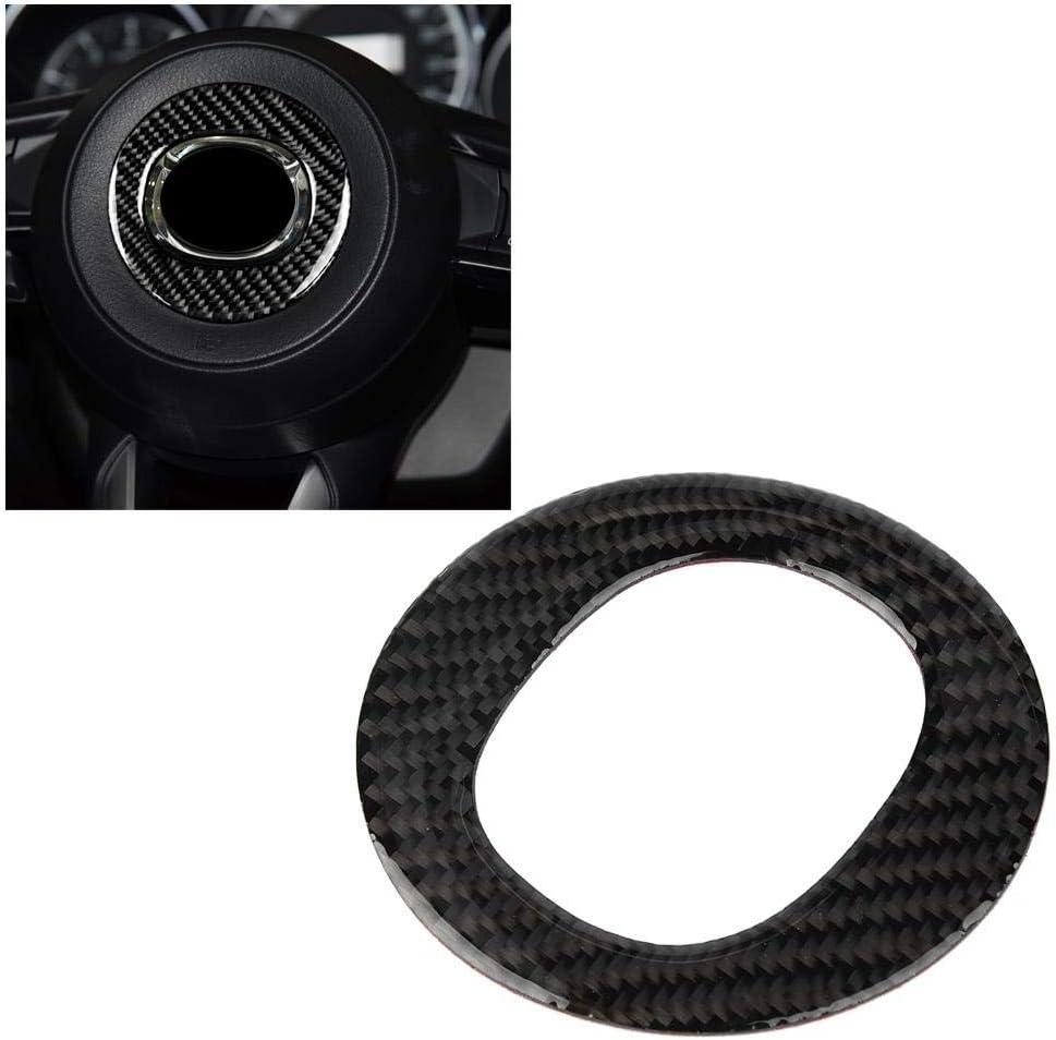 Cuque Carbon Fiber Interior Steering Wheel Cover Trim Round Sticker For Auto CX-5 2017 2018