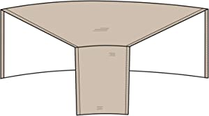 """Protective Covers Inc. Modular Sectional Sofa Cover, Individual Wedge Piece, 52""""W x 40""""D x 32""""H, Tan - 1250-TN"""