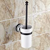 Yomiokla Bathroom Accessories - Kitchen, Toilet, Balcony and Bathroom Metal Towel Ring Antique ceramic/American Hang-(BE73) TOILET BRUSH