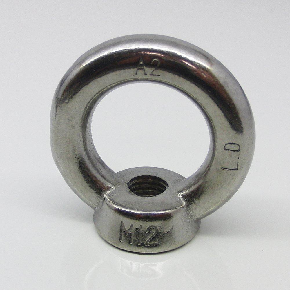 1 Stü ck Ringmutter M12 gegossen u. poliert ä hnl. DIN 582 Edelstahl A2 dely trade Verbindungselemente