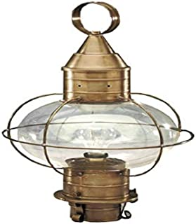 product image for Brass Traditions 610 AB Large Onion Post Lantern, Antique Brass Finish Onion Post Lantern