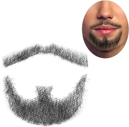 Fake beard false beard male simulated Men Mustache Handmade Lifelike Makeup Hair