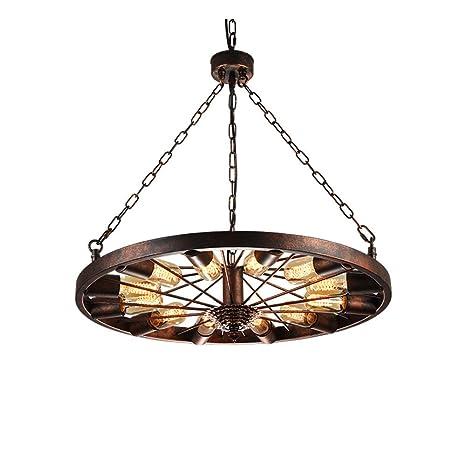 SADASD Lámpara de techo vintage industrial lámpara de techo colgante vintage lámpara de araña creativa barra