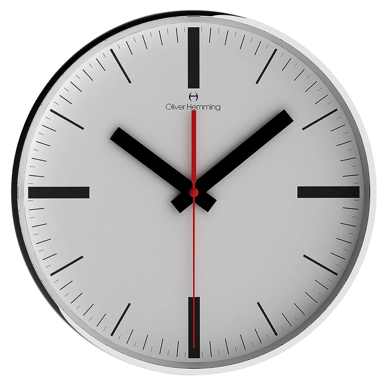 オリバーヘミング 壁掛け時計 イギリスブランド 300mm W300SSTAT [並行輸入品] B01N19XT3T