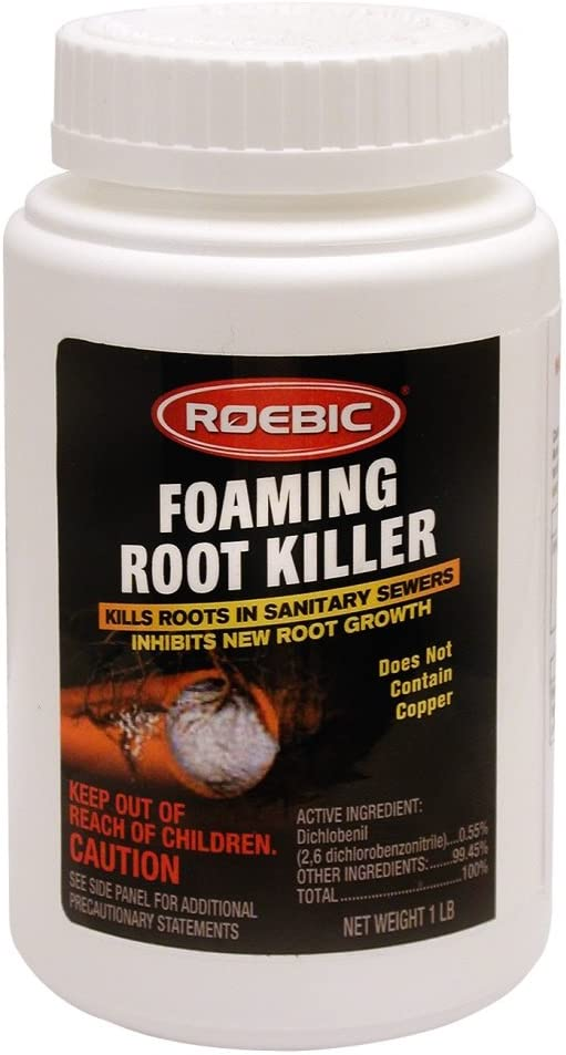 Roebic FRK-1LB FRK Foaming Root Killer, 1-Pound, 1 lb, White: Home Improvement