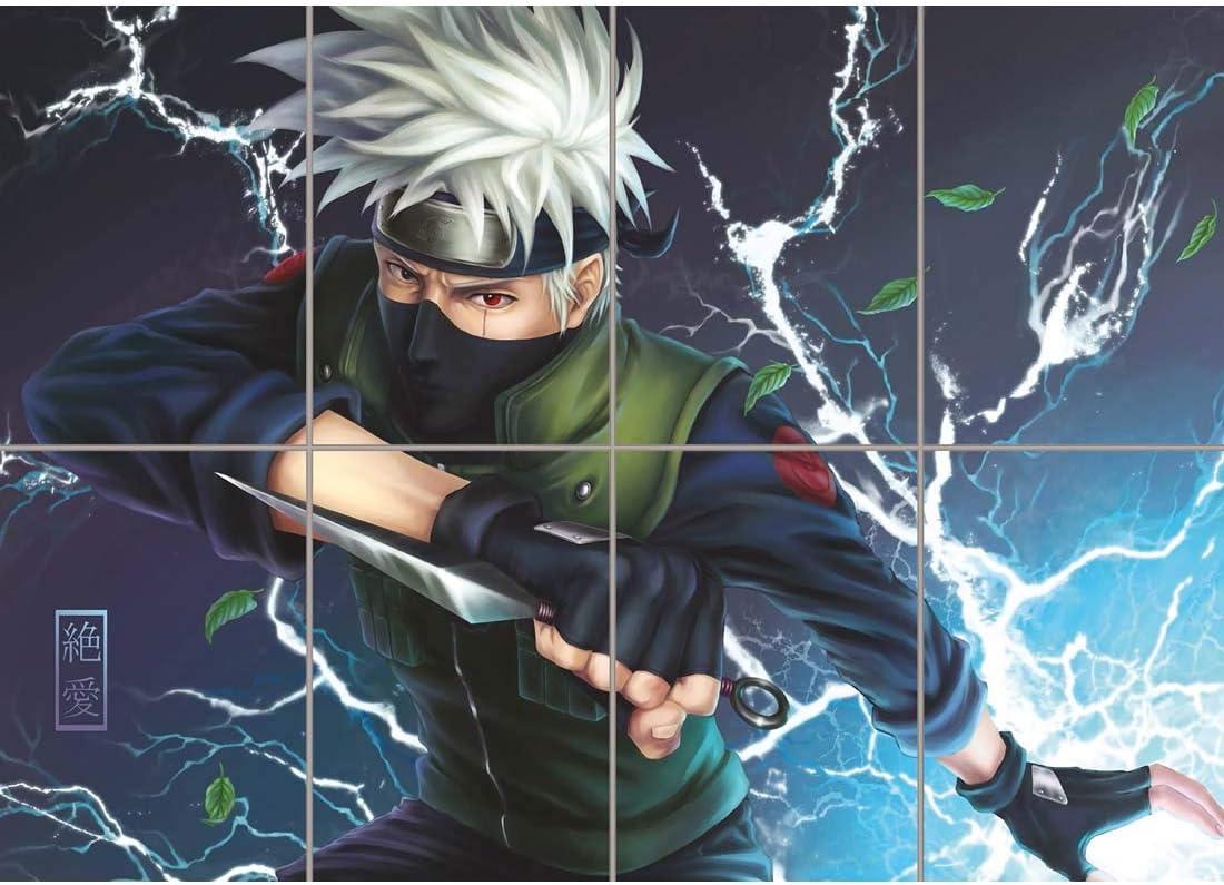 Naruto Hatake Kakashi Anime Manga Lightning Giant New Art Print Poster Oz354 Amazon Co Uk Kitchen Home