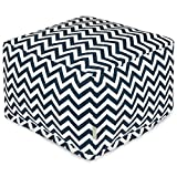Majestic Home Goods Chevron Ottoman, Large, Navy