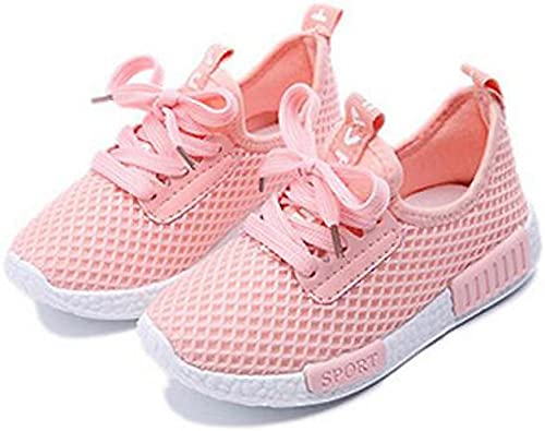 FORTUN Boy Girl Comfortable Running Shoes Non-Slip Sneakers mesh Toddler Shoes