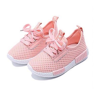 b1154870b1d8d9 Amazon | (ダクレ)Daclay 運動靴 黒 白 ピンク 男の子 女の子 子供用の靴 ...