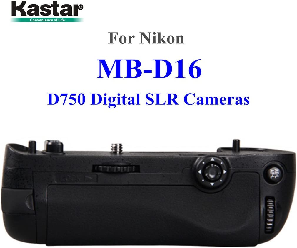 for Nikon D750 Digital SLR Camera Kastar Pro Multi-Power Vertical Battery Grip Replacement for MB-D16