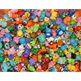 Squinkies for Girls and Boys: Fairies, Figures, Fantasy, Animals, Birds, Cartoon Characters, - 20pc Mixed Lot - With Bubbles
