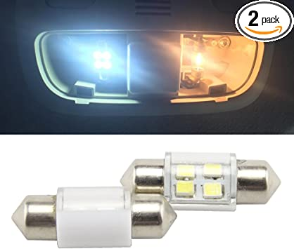 Newsun 2X Festoon 27mm 28mm 1.10 2835 6SMD DE3021 DE3022 3528 LED Xenon White Interior Lights Bulbs 12VDC Dome roof Door step light 27mm 6SMD
