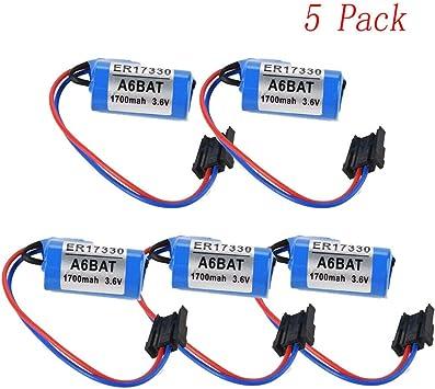 Mitsubishi A6BAT ER17330V PLC Batería 2/3A 3.6V 1700mAh batería de litio con enchufe US: Amazon.es: Bricolaje y herramientas