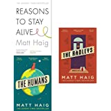 Matt haig collection 3 books set (reasons to stay alive, the humans, the radleys)