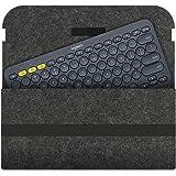 Etgu Sleeve Case Bag Cover for Logitech K380 Wireless Keyboard Grey Dark Grey