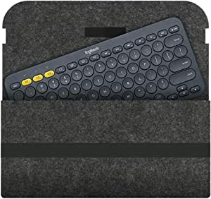 Etgu Sleeve Case Bag Cover for Logitech K380 Wireless Keyboard Grey Dark Grey
