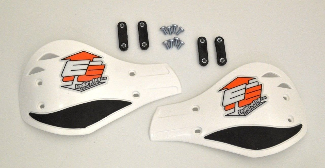Enduro Engineering Evolution Debris Deflectors Black Bar//White Plastic 7//8 Bars