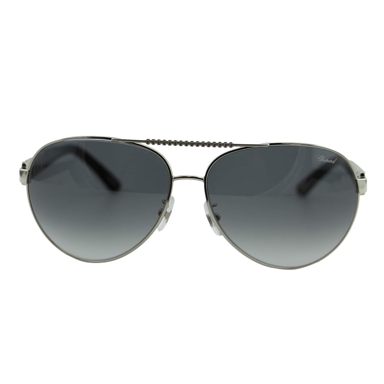 Amazon.com: Chopard anteojos de sol SCH a63s 0628 Plata 63 ...