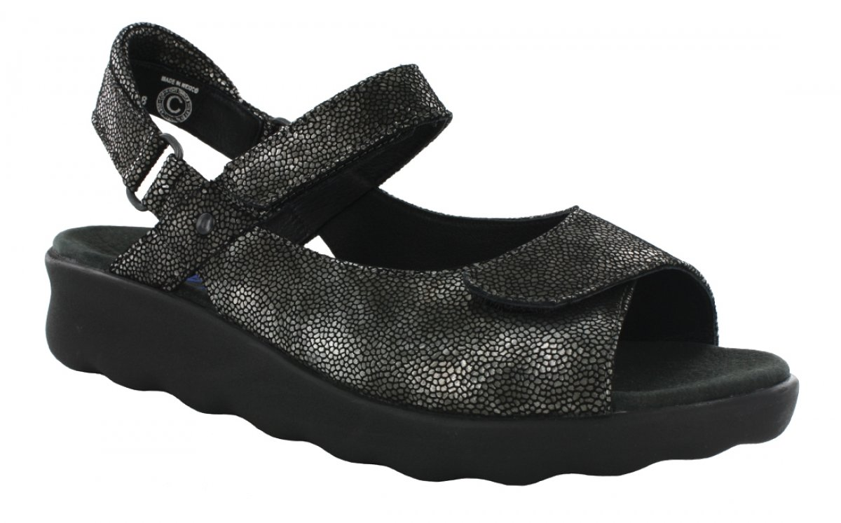 Wolky Comfort Sandals 01890 Pichu B00NLVMCTW 40 M EU|60000 Black Leather