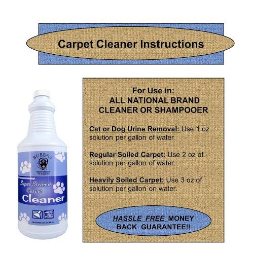 Bubbas Super Steamer Carpet Cleaner. ODOR and STAIN REMOVER CARPET SHAMPOO. 1oz of Solution Per Gallon of Water in Any Rug, Upholstery or Carpet Cleaning Machine by Bubba's Rowdy Friends Pet Supply Company (Image #6)