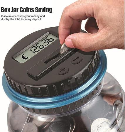 Gaddrt EU Effacer Digital Piggy tirelire monnaie compteur LCD comptage argent pot changer cadeau Clear
