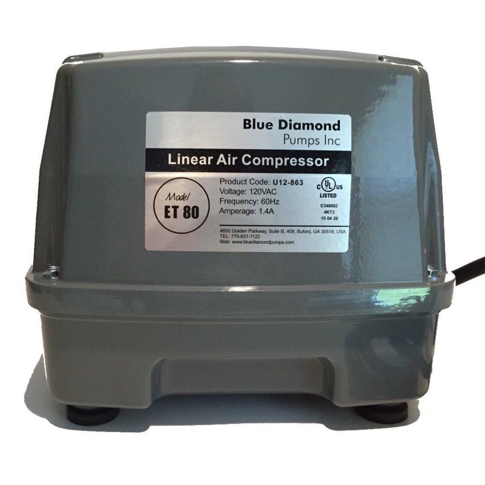 Blue Diamond ET 80 Septic or Pond Linear Diaphragm Air Pump by Blue Diamond Pumps
