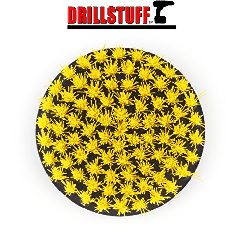 Quick Change Shaft Yellow Medium Drill Brush Power