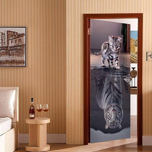 BXZGDJY T/ürtapete Selbstklebend Fototapete Tapete T/ürpanel T/ürposter T/ürsticker Foto Bild Design 3D Eisentor 77X200Cm