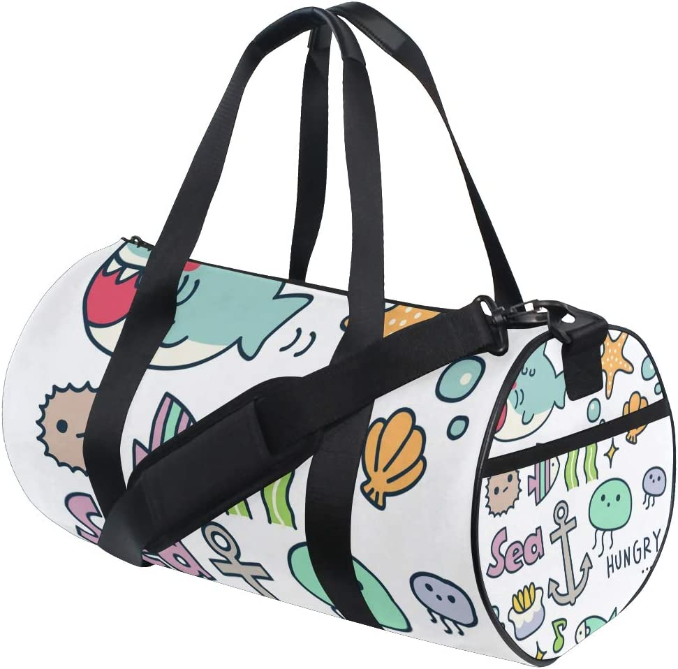 MALPLENA Hungry Marine Organism Drum gym duffel bag women Travel Bag