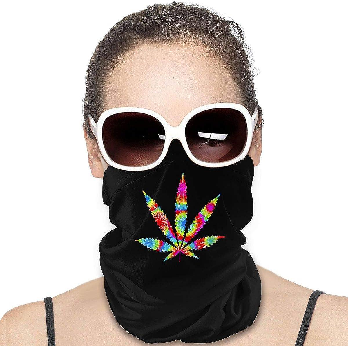 Tie Dye Marihuana cortavientos Protección facial multiuso para la cabeza, pasamontañas