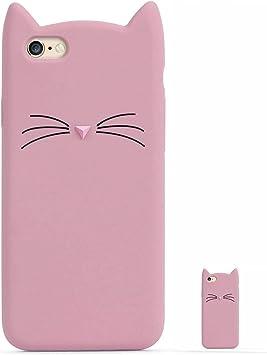 HopMore Gato Funda para iPhone 6S Plus/iPhone 6 Plus Silicona ...