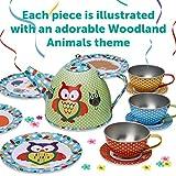 Lucy Locket Woodland Animals Metal Tea Set & Carry