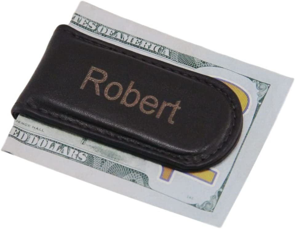 Quality Strong Magnet Genuine Leather Money Clip Forevergifts Free Engraving