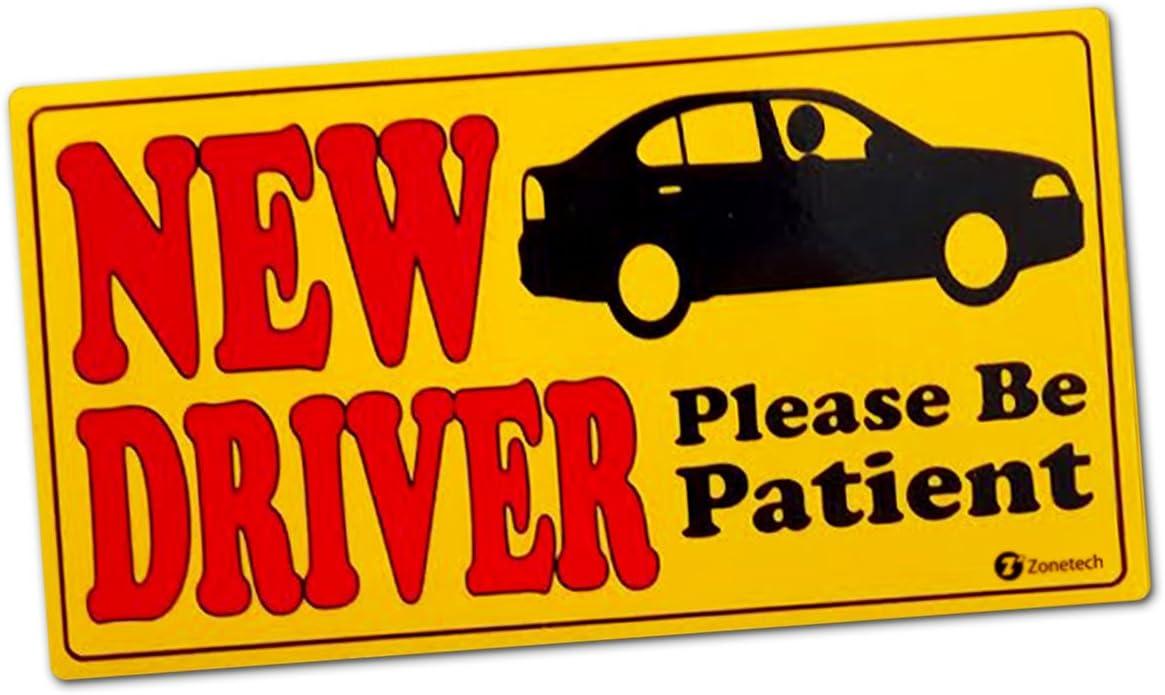 Premium Quality New Driver Effective Bumper Decal Neon Yellow Comfort Wheels ST0101 Zone Tech Vehicle Bumper Magnet