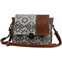 Myra Bag Spell Bound Messenger Bag Upcycled Cotton & Leather S-2875