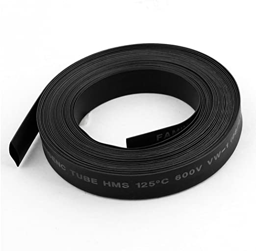 RETYLY 30mm 2 Noir 1M 1 Gaine thermoretractable en polyolefine