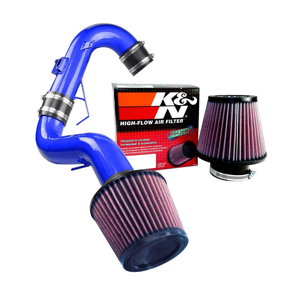 K&N Air Filter + Spyder Cold Air Intake (Blue) - 11-16 Scion tC 2.5L 4cyl SPYDER-681-B/RU-3580