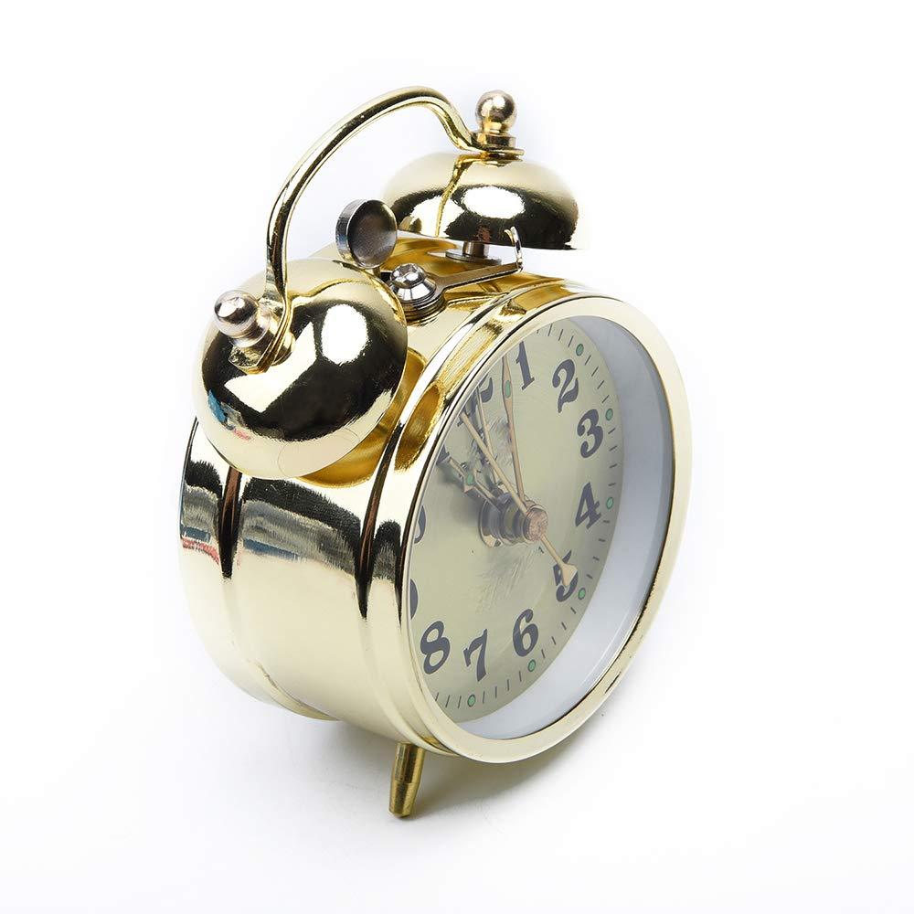 KUAIDCD M/écanique R/éveil M/écanique /À remonter Manuel en M/étal Horloge De Table Affichage Version Home D/écoration Fournitures