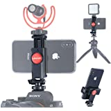ULANZI ST-06 Camera Hot Shoe Phone Tripod Mount Adapter 360 Rotation Phone Holder with Cold Shoe for Mic Light Stand…