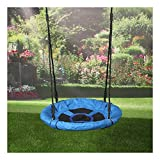 "24"" Tree Saucer Playground Platform Swing Flyer Nylon Rope Kid Outdoor Toy-Swing length: 71 inches"