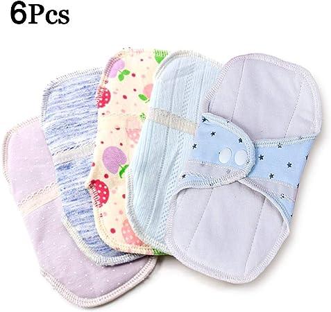 April Story 6Pcs Reutilizables Almohadilla Menstrual Lavables Compresa Más Saludable, Económico y Ecológico 14cm(5.5inch): Amazon.es: Deportes y aire libre