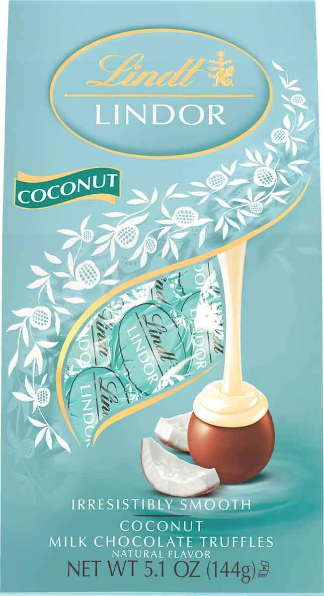 Lindt LINDOR Coconut Milk Chocolate, Kosher, 5.1oz (Pack of 6) by Lindt
