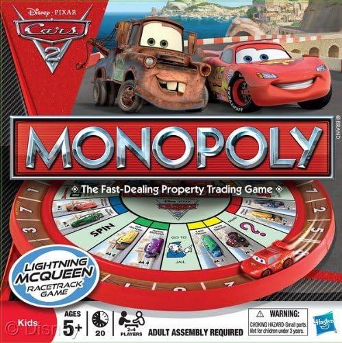 Disney Hasbro Cars 2 Monopoly Race Track Game: Amazon.es: Juguetes y juegos