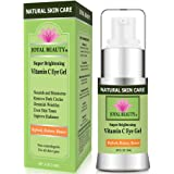 Joyal Beauty Best Organic Eye Cream Gel Moisturizer for Dark Circles and Puffiness Bags Anti Aging Fine Lines and Wrinkles with Hyaluronic Acid Vitamin C Caffeine Peptide Cucumber for Men and Women