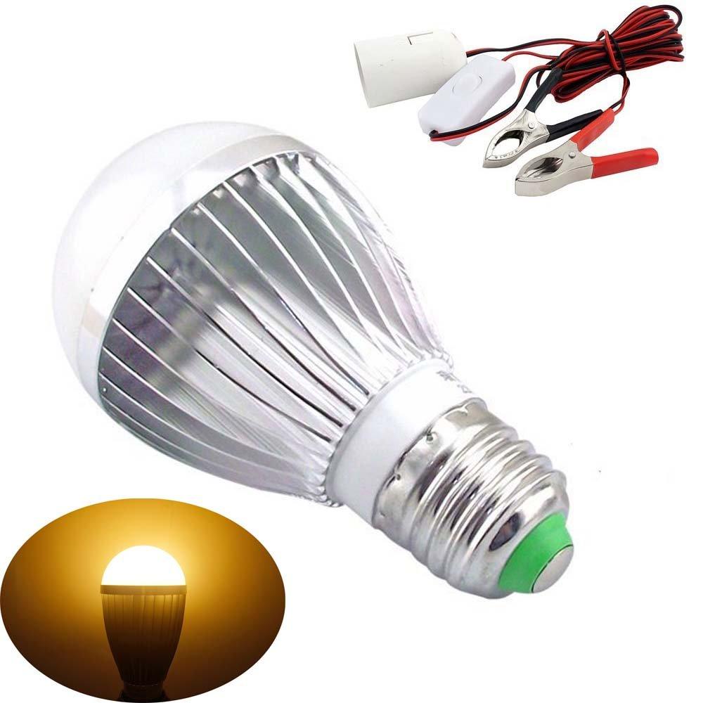 Bonlux E27 Dc Ac 12v LED Light Bulb Solar Battery Lamp for Motor ...