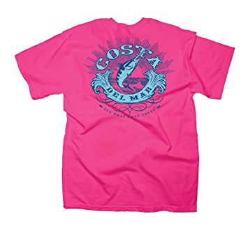 Costa Men's Classic Short Sleeve Hot Pink XXXL