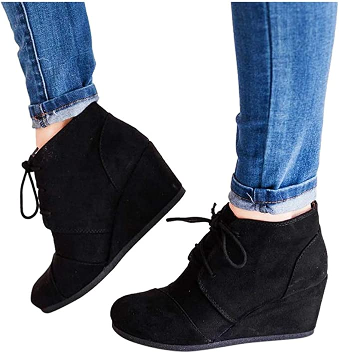 Amazon.com: Botines para mujer de tacón bajo, zapatos ...