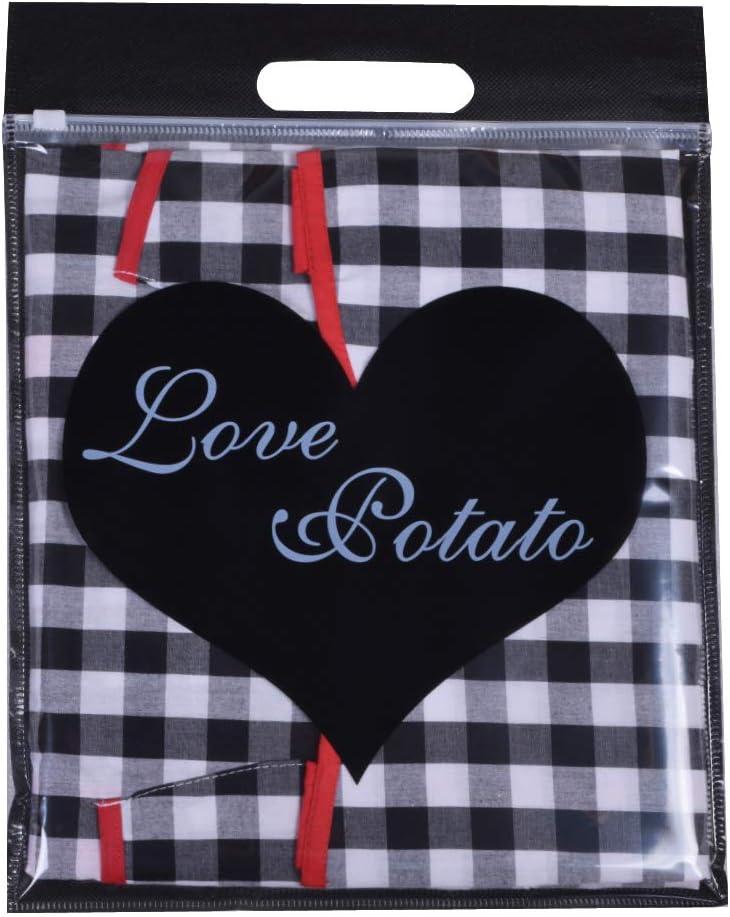 Love Potato Tablier de Cuisine 100/% Coton Vichy Vintage avec Deux Poches Taille S /à Plus pour Femme Cadeau id/éal pour Femme ou Femme