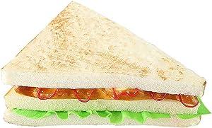 R STAR Artificial Bread Fake Bread Simulation Food Model Kitchen Prop, Sandwich