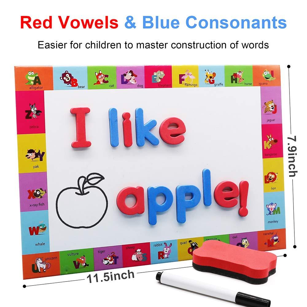 Educational Toy Set Uppercase Lowercase Foam Alphabet ABC Magnets ...
